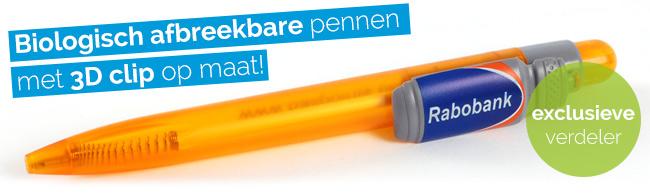 Biologisch afbreekbare pen met 3D clip!