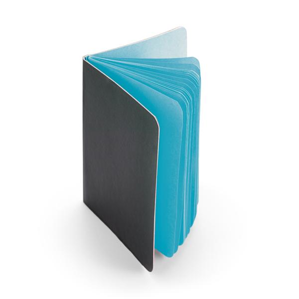 Notitieboekje met gekleurde pagina's