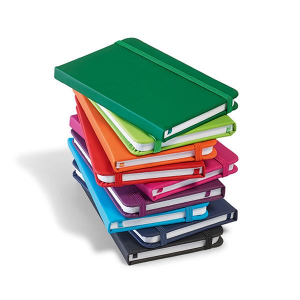 Notitieboekje met gekleurde gekleurde hardcover